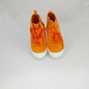 Cat & Jack Boys' Orange Toe Cap Sneaker Size 12